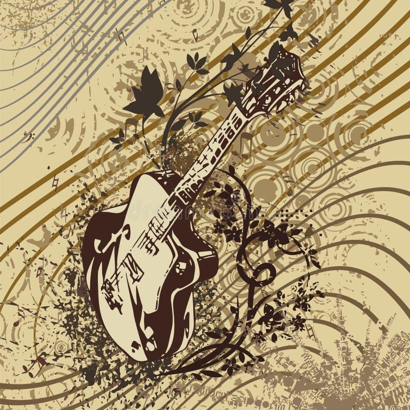 musik för bakgrundsgrungeinstrument stock illustrationer