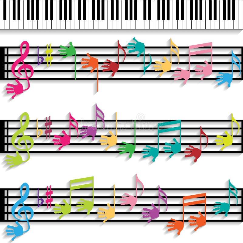 Musik för barn vektor illustrationer