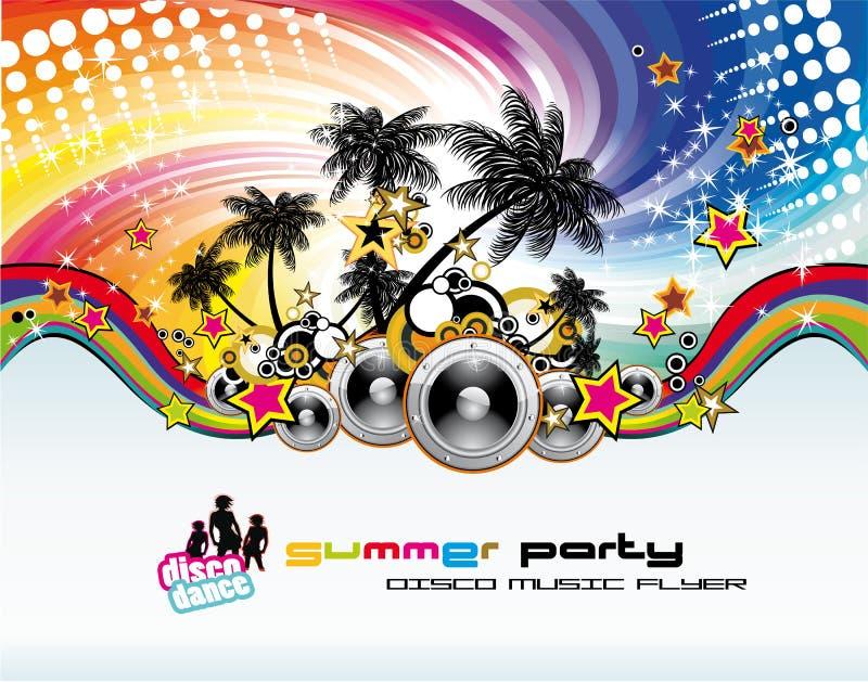 musik för discotequehändelsereklamblad stock illustrationer