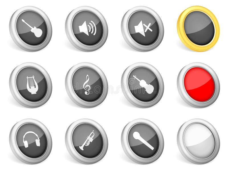 musik för symboler 3d vektor illustrationer