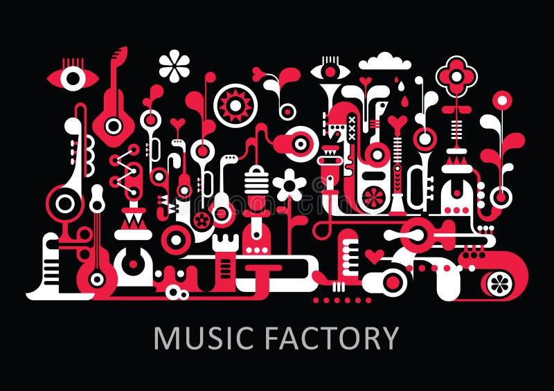 Musik-Fabrik stock abbildung