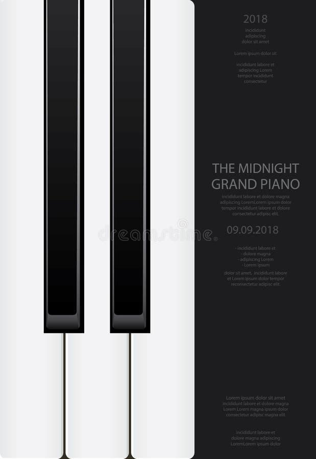 Musik-Flügels-Plakat lizenzfreie abbildung