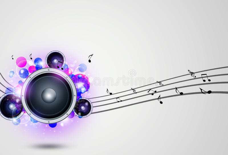 Musik-flippiger Hintergrund stock abbildung