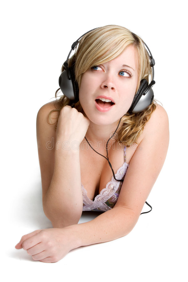 Musik-Frau lizenzfreies stockfoto