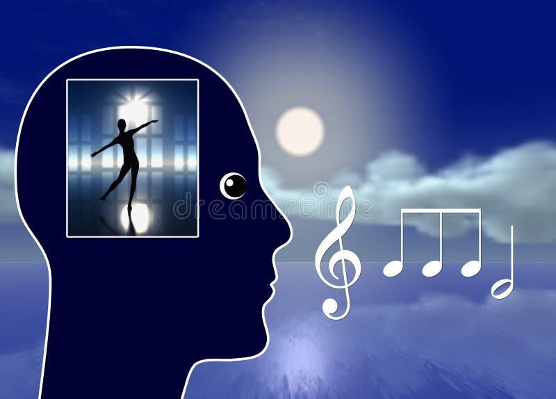 Musik gör dig att drömma stock illustrationer