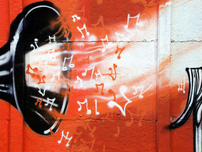 Musik-Graffiti lizenzfreie stockfotos