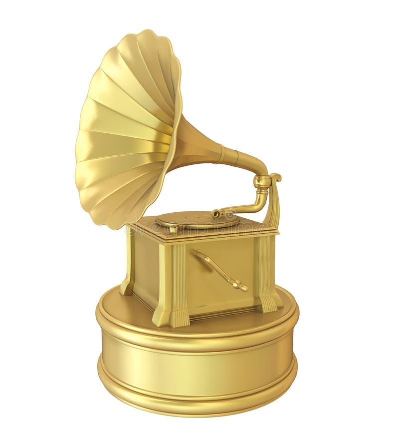 Musik-Grammophon-Trophäen-Preis lokalisiert lizenzfreie abbildung