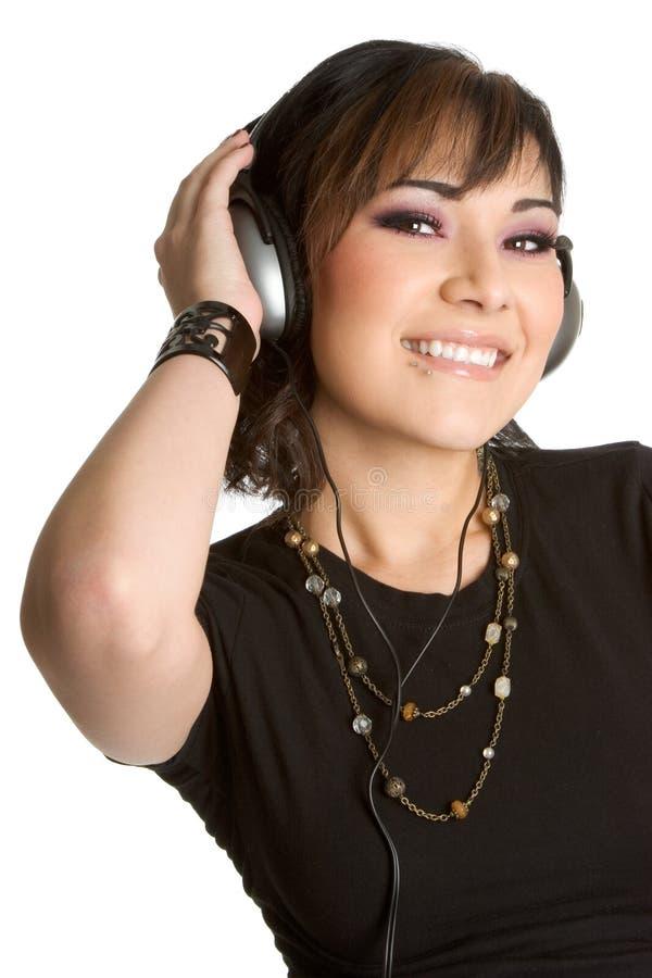 Musik-hörendes Mädchen stockfotos