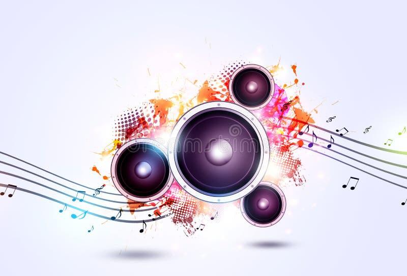 Musik-heller Hintergrund lizenzfreie abbildung