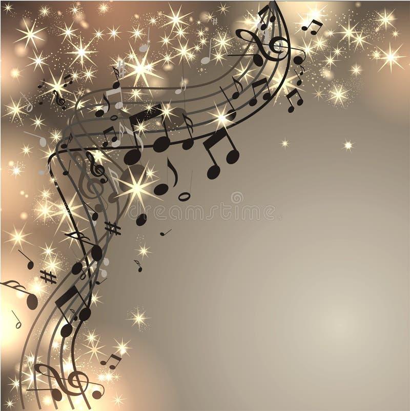 Musik-Hintergrund mit Anmerkungen lizenzfreie abbildung