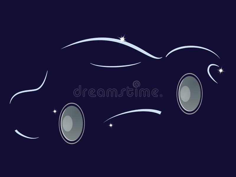 Musik i bilen Den Abstaktny bakgrunden med högtalaren vektor illustrationer
