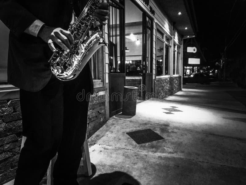 Musik i natten royaltyfria foton