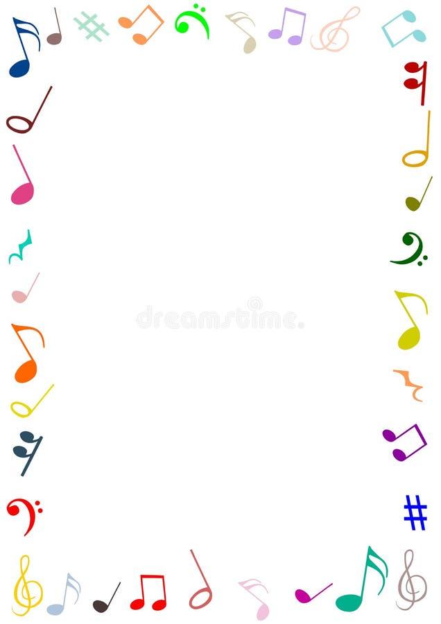Musik inramar vektor illustrationer
