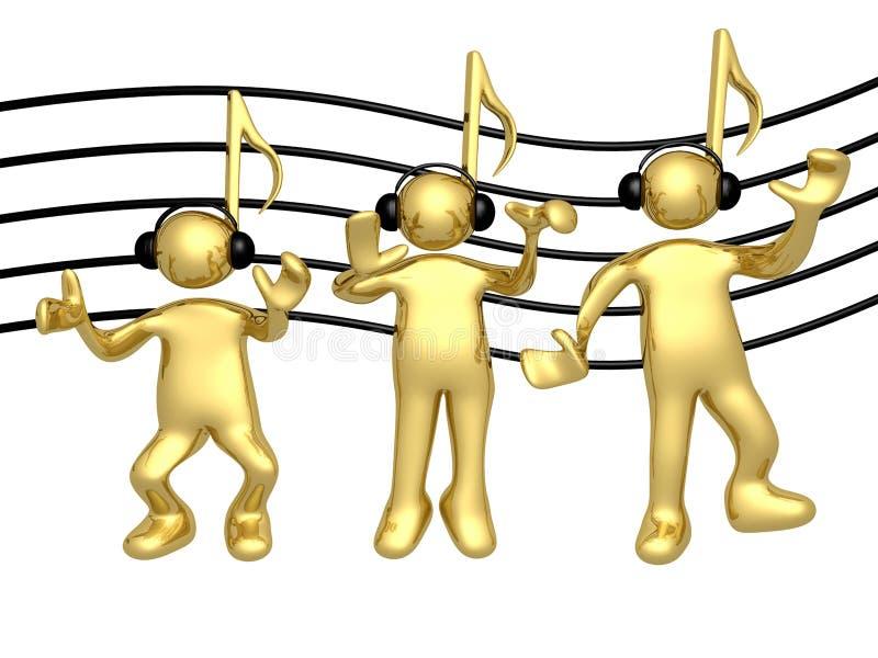 Musik-Leute lizenzfreie abbildung