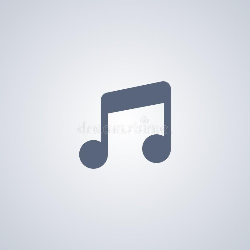 Musik ljud, bästa plan symbol för vektor vektor illustrationer