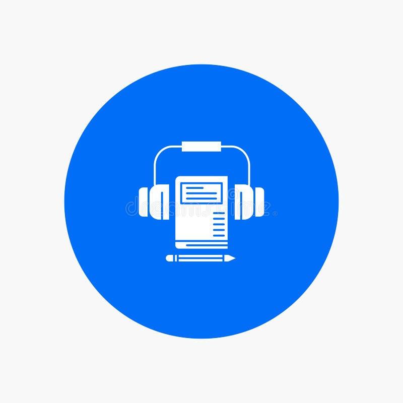 Musik ljudsignal, Headphone, bok vektor illustrationer