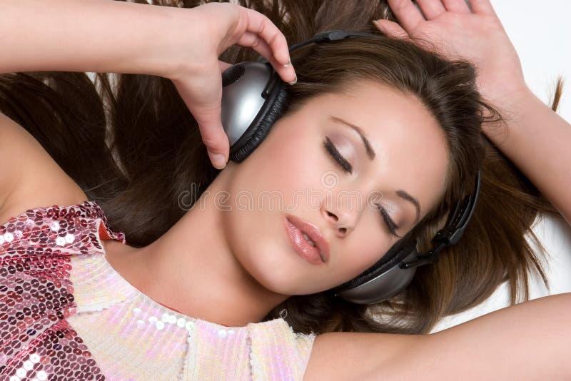 Musik-Mädchen stockfoto