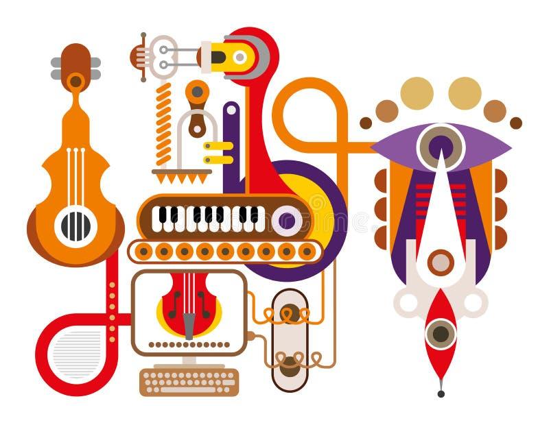 Musik-Maschine lizenzfreie abbildung