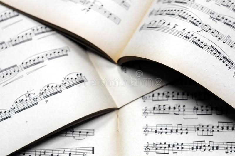Musik merkt Hintergrund stockfotos
