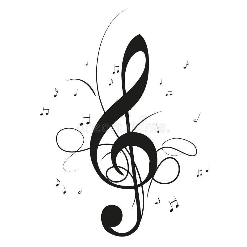 musik merkt notenschlüssel vektor abbildung. illustration