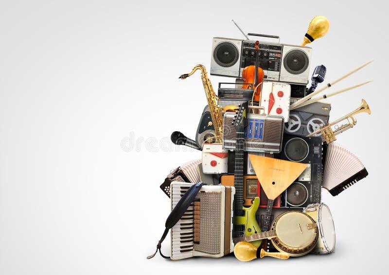 Musik musikinstrument royaltyfri fotografi