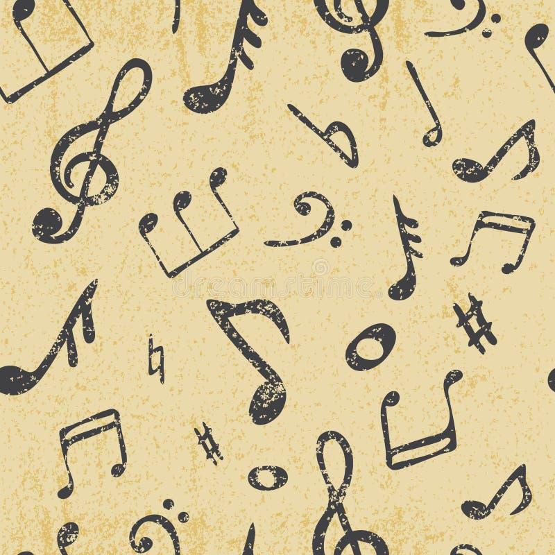 Musik nahtlos lizenzfreie abbildung