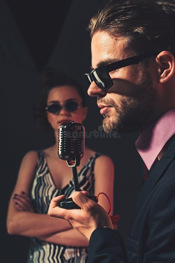 Musik och förälskelse royaltyfri fotografi