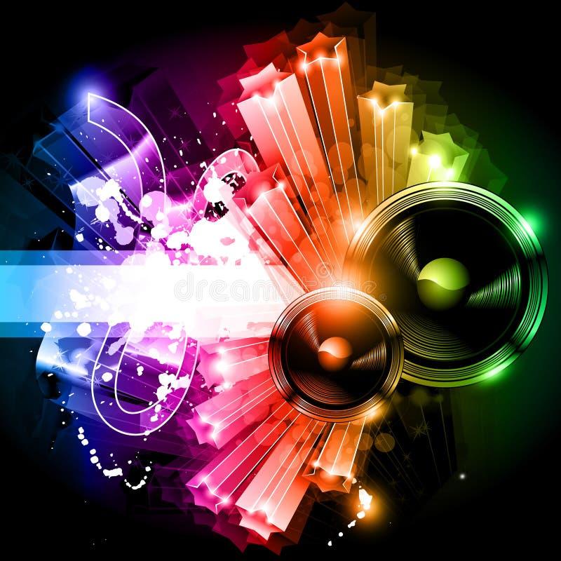 Musik-Party-Disco-Flugblatt vektor abbildung