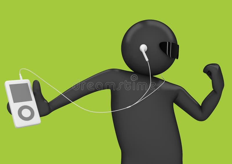 Musik - persönlicher Stereospieler lizenzfreie abbildung