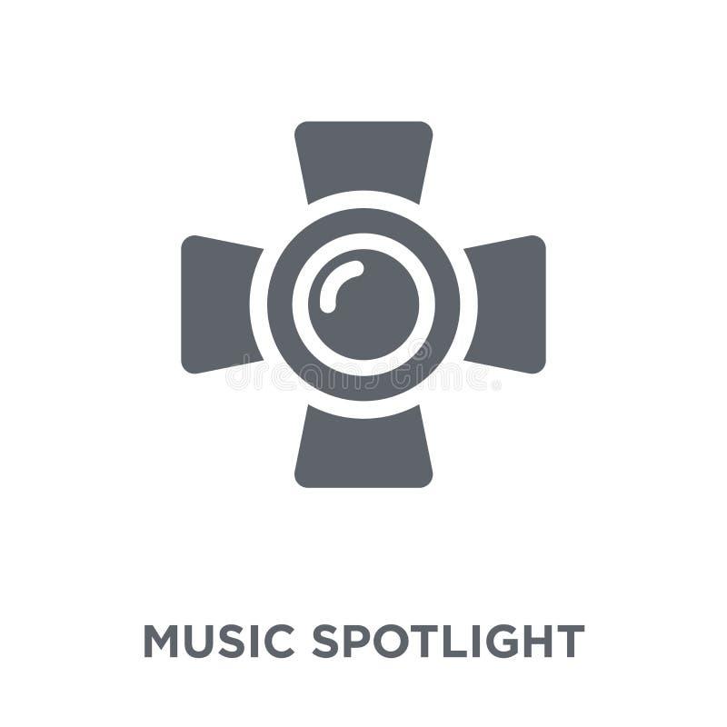 Musik Scheinwerferikone von der Musiksammlung stock abbildung