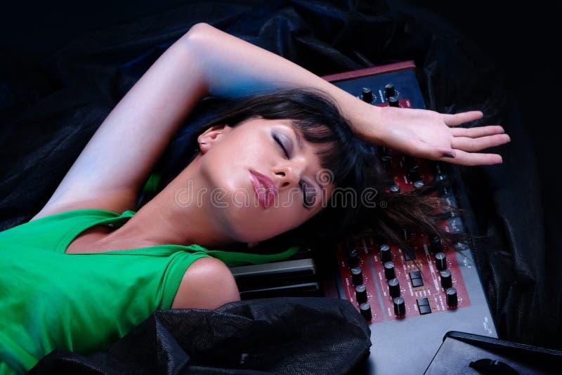 Musik schläft nie stockbilder