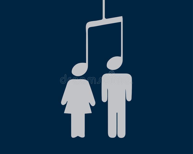 Musik schließt Leute an vektor abbildung