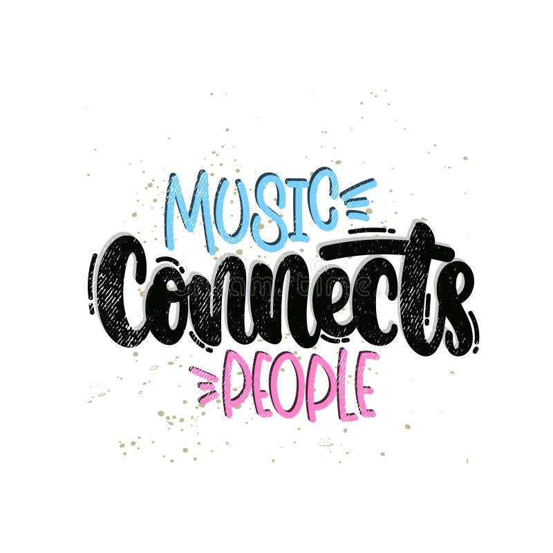 Musik schlie?t Leute an lizenzfreie stockfotos
