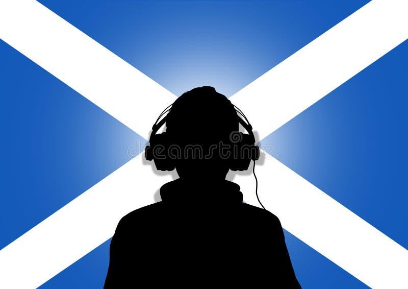 musik scotland vektor illustrationer
