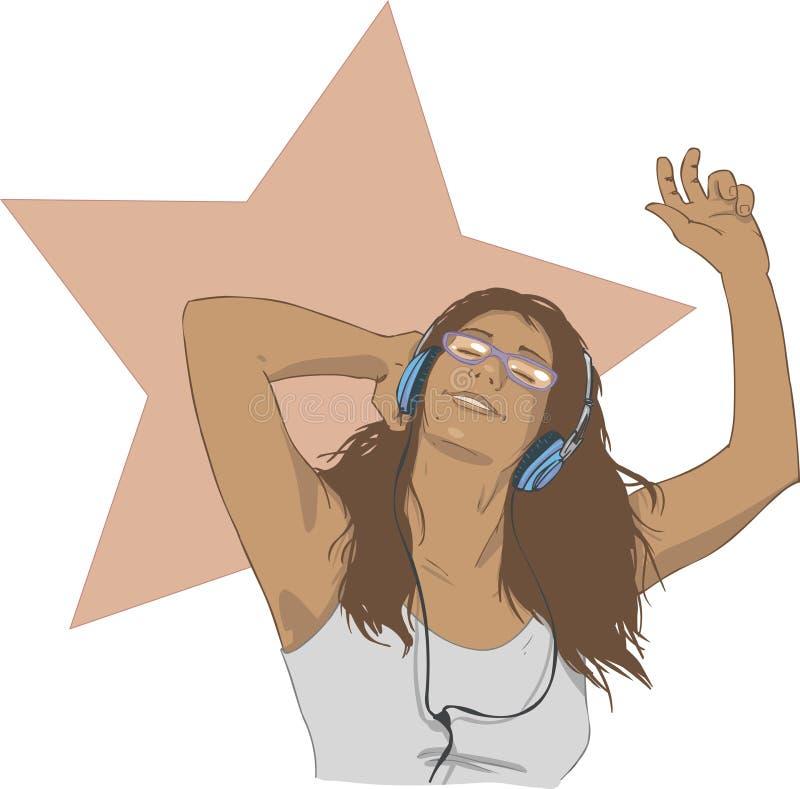 musik till royaltyfri illustrationer