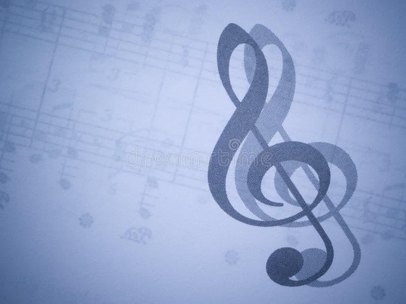 Musik und dreifacher Clef stock abbildung