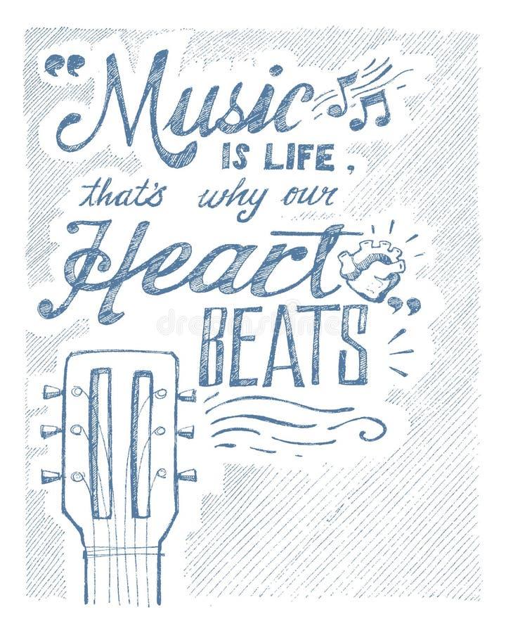 Musik und Leben vektor abbildung