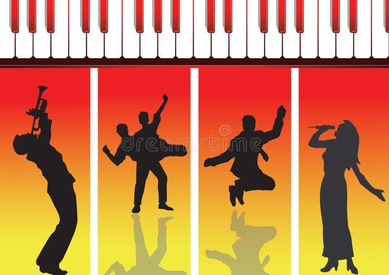 Musik und Tanz neu stock abbildung