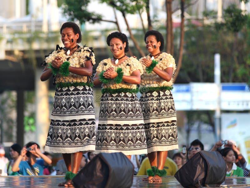 Musik und Tanz von Fidschi lizenzfreie stockfotografie