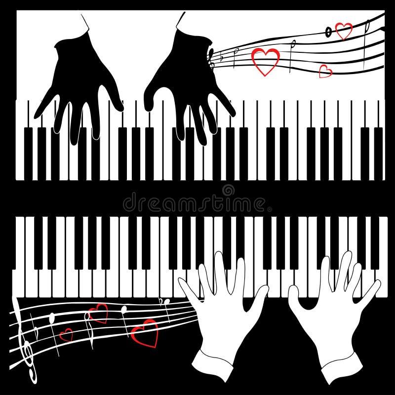 Musik in vier Handtönen   lizenzfreie abbildung