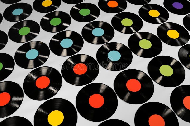 Musik - vinylrekord royaltyfria foton