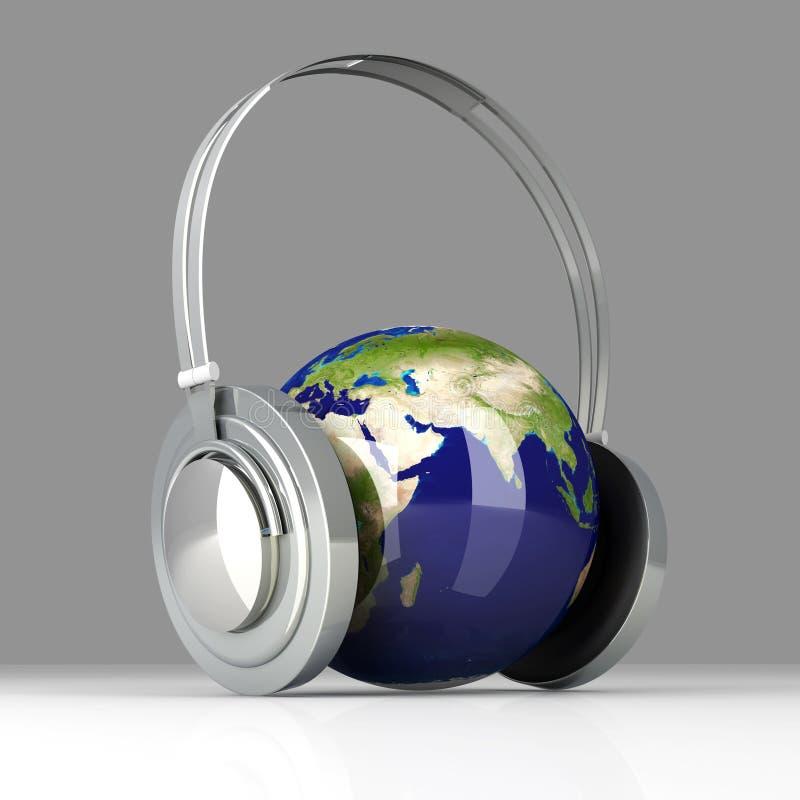 Musik von Asien stock abbildung