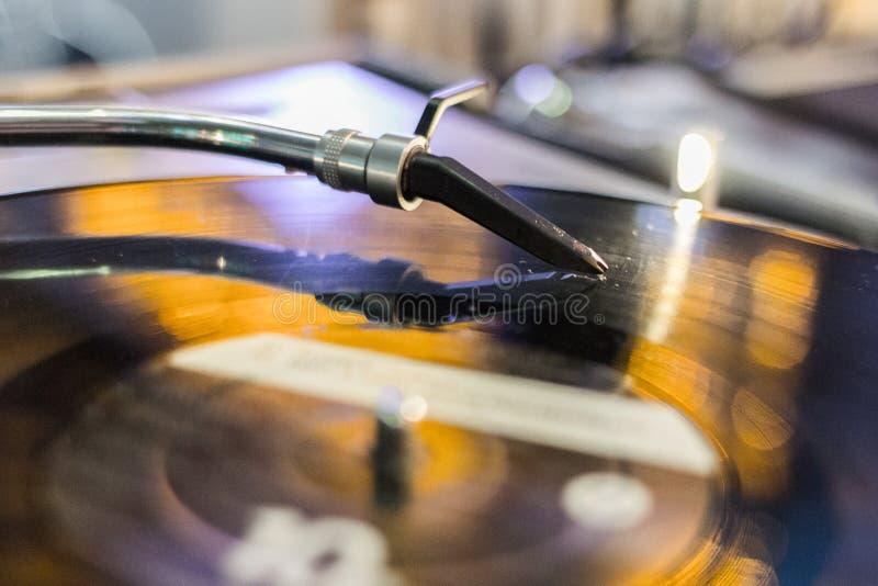 Musik von den analogen Audiomedien lizenzfreies stockbild