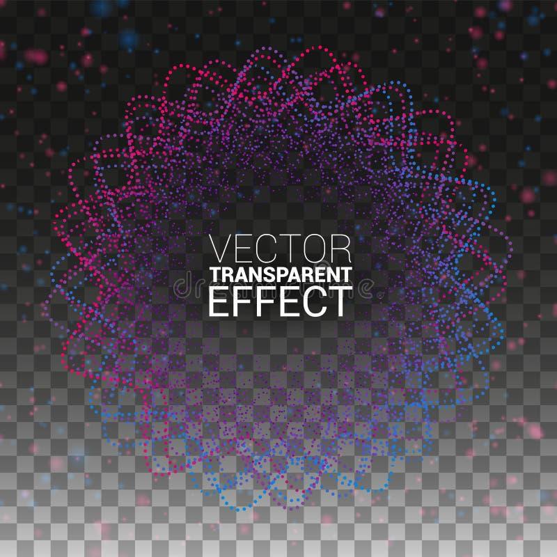 Musik WELLE Kreisturbulenz mit farbigen Kurven Abstrakte Linie Minimalistic für Albumabdeckung Vektorbild, Abbildung ein getrennt vektor abbildung