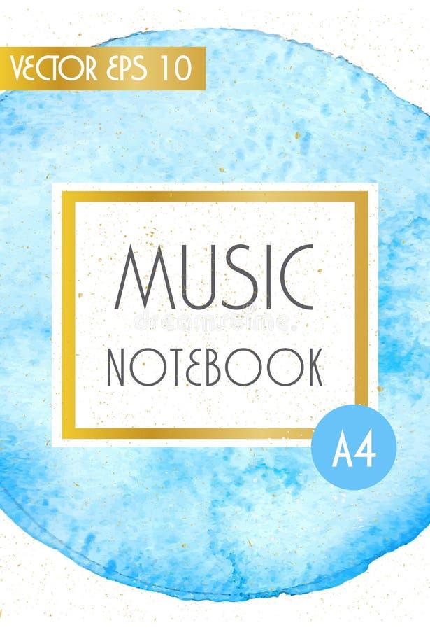 Musikabdeckungs-Designschablone, minimale Artbildung lizenzfreie abbildung