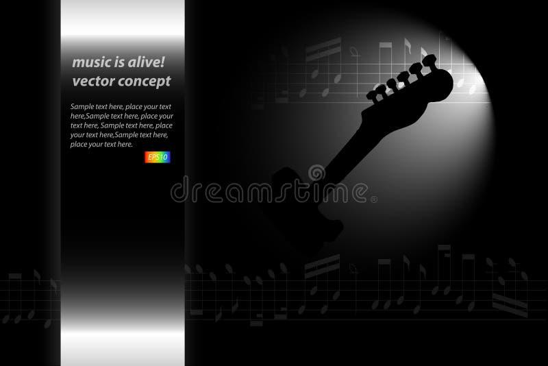 musikaffisch stock illustrationer