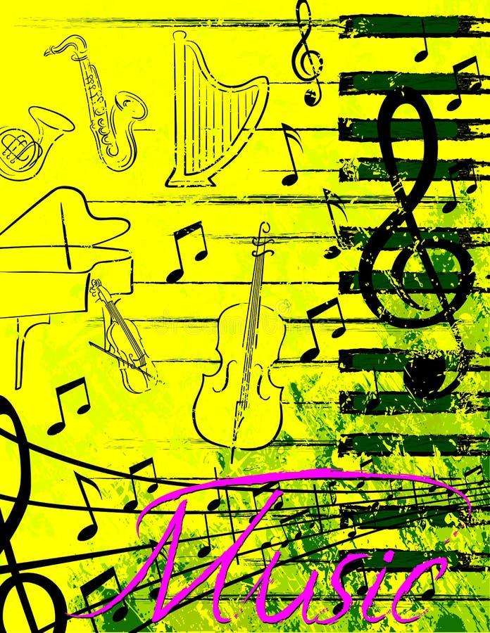 musikaffisch royaltyfri fotografi