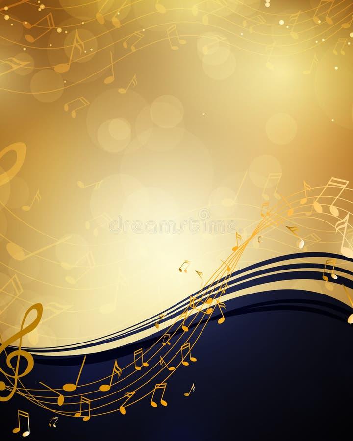 Musikaffisch vektor illustrationer
