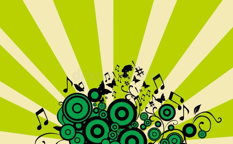 musikaffischer royaltyfri illustrationer
