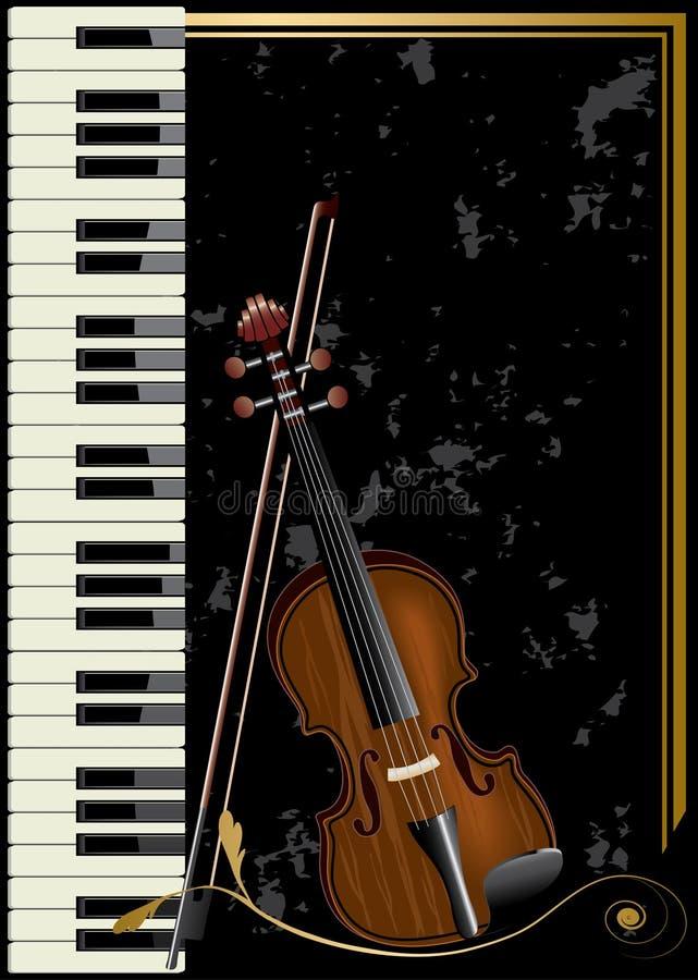 musikal royaltyfri illustrationer